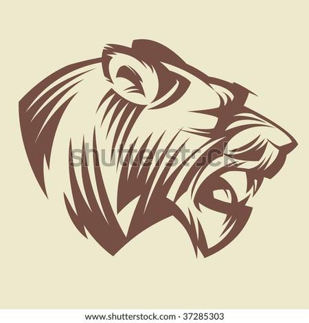 Lioness - stock vector