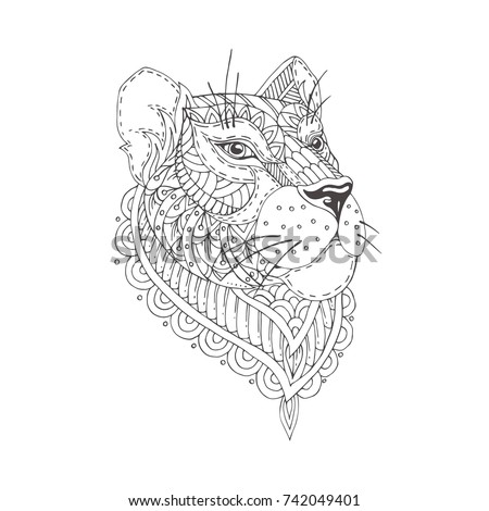 Lioness stock images royalty free images vectors for Lioness coloring pages
