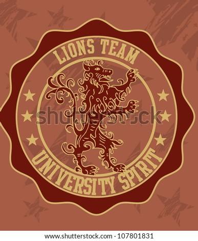 lions team - stock vector