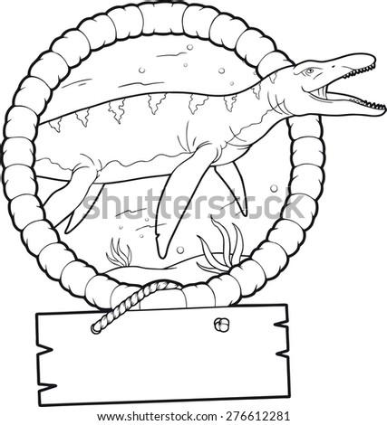 liopleurodon - stock vector