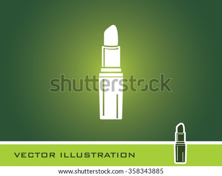 Lip Stick Icon. Eps-10. - stock vector