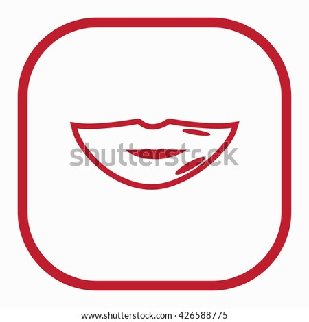Sexy Female Mouth Laughing Lol Lettering Stock Vector ...