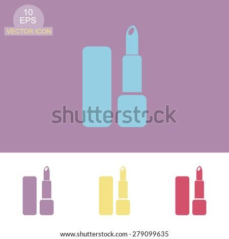 Lipstick vector icon. - stock vector