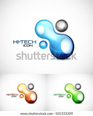 Liquid abstract icon - stock vector