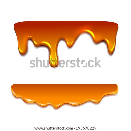 Liquid caramel, Honey. Vector - stock vector