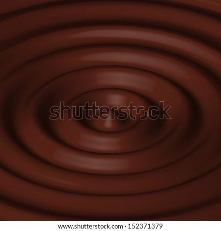 Liquid  chocolate swirl. Background - stock vector
