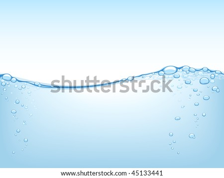 Liquid Concept. This image is a vector. You can remove or add details (bubbles).