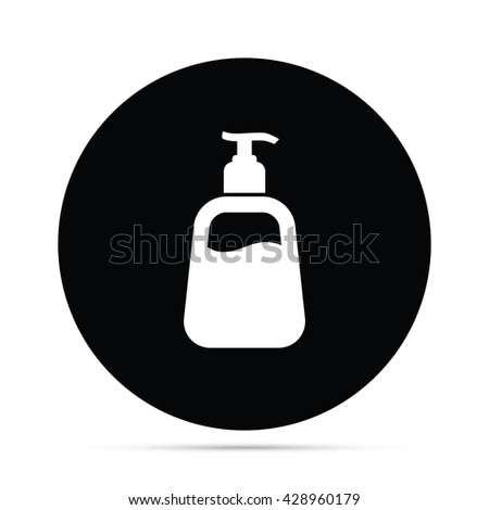 Liquid Soap / Lotion Icon Circle Icon - stock vector