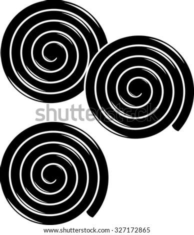 liquorice wheels symbol - stock vector