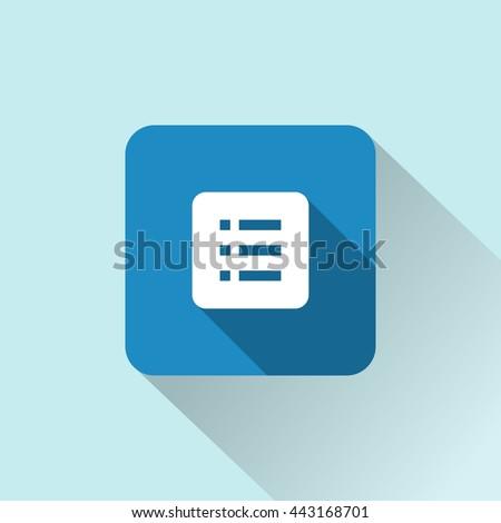 list icon. list sign  - stock vector