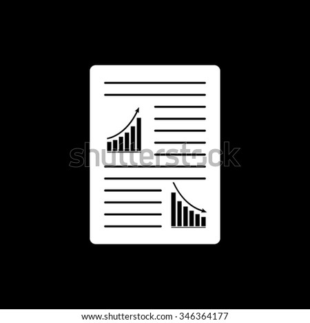 List Paper Text Graphs Vector Icon Stock Vector 346364177 Shutterstock