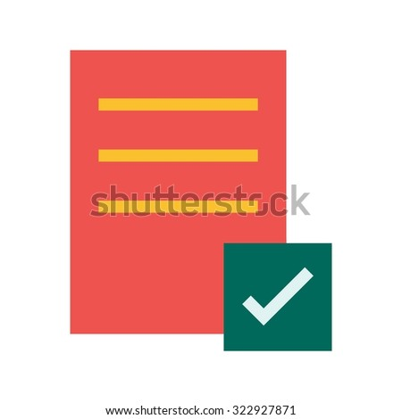 List, paper, document icon vector image. Can also be used for business, finance, technology, economics and accounting. Suitable for web apps, mobile apps and print media.