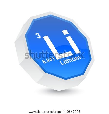 lithium button - stock vector