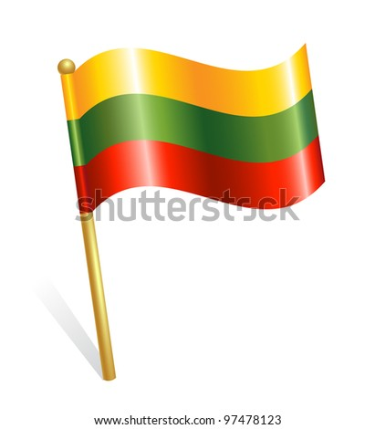 Lithuania Country flag - stock vector