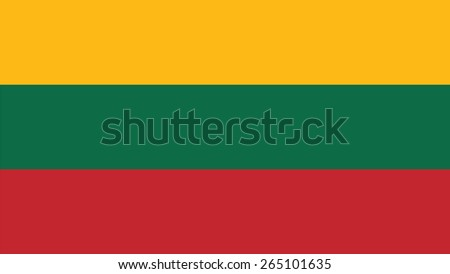 lithuania Flag for Independence Day and infographic Vector illustration. - stock vector