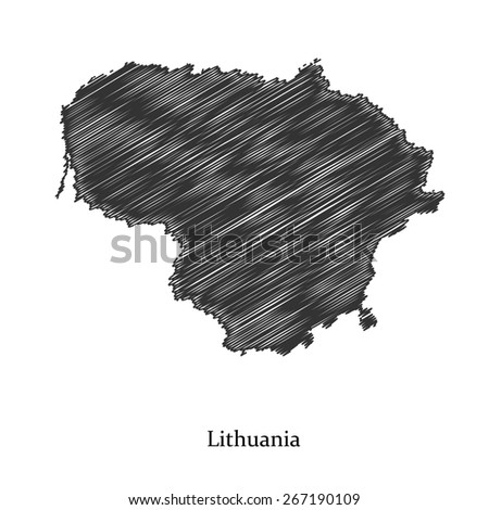 Lithuania map icon for your design, concept Illustration. - stock vector