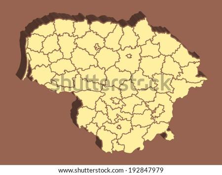 Lithuania Vector Map - stock vector