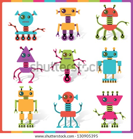 Cute Robot Doodles Little Abstract Robot Doodle