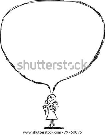 Little angel says, vector file - stock vector