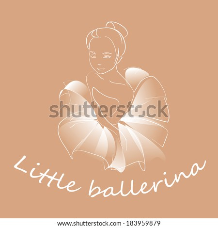 Little ballerina - stock vector