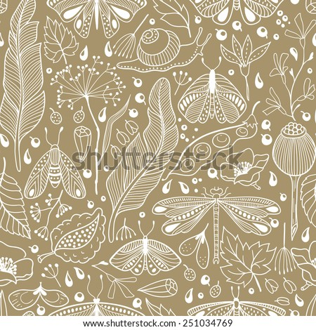 Little beautiful things. vector seamless pattern - stock vector