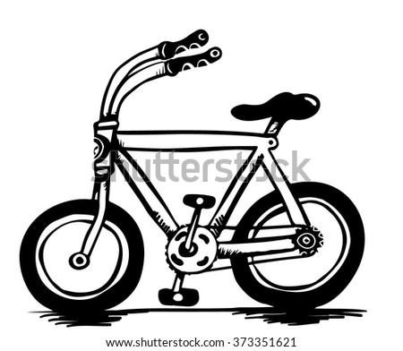 Little bicycle - stock vector