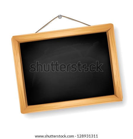 little blackboard on white - stock vector
