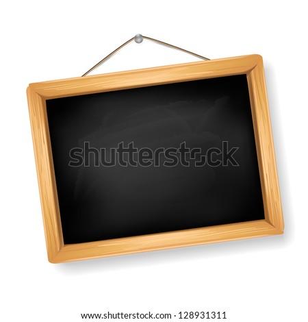 little blackboard on white - stock vector