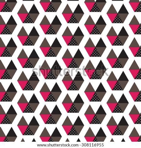 Little boats pattern - stock vector