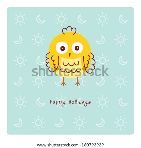 little chicken holiday - stock vector