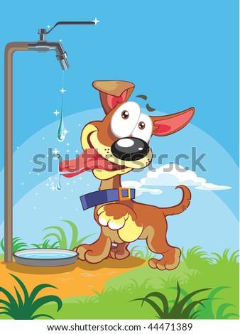 little Dog bright - stock vector