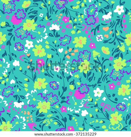 little floral print ~ seamless background - stock vector