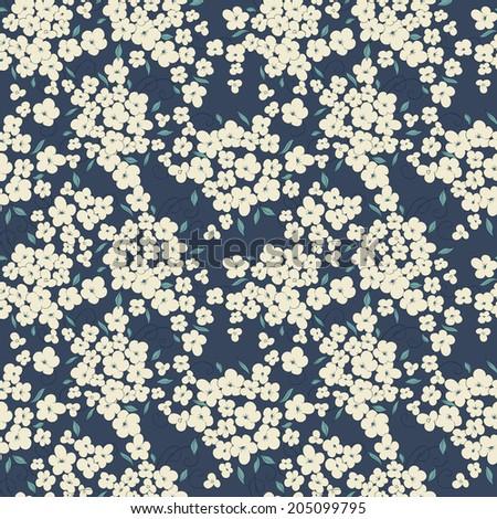little flowers seamless - stock vector