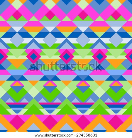 little geometric tribal print  ~ seamless background - stock vector