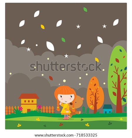 Day Night Countryside View Daytime Nighttime Stock Vector ...