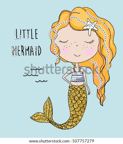 little mermaid with sequins