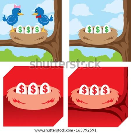 LIttle Nest Egg icon - stock vector