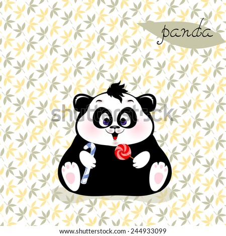 little Panda with candy