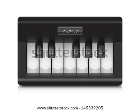 Little piano. Contains transparent objects. Can be easily extended. - stock vector