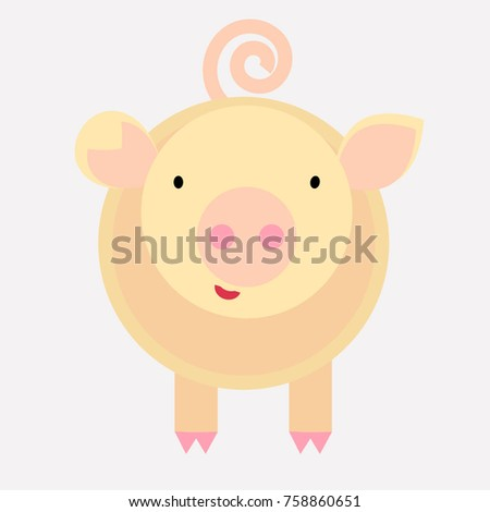 little pink pig, pastel colors