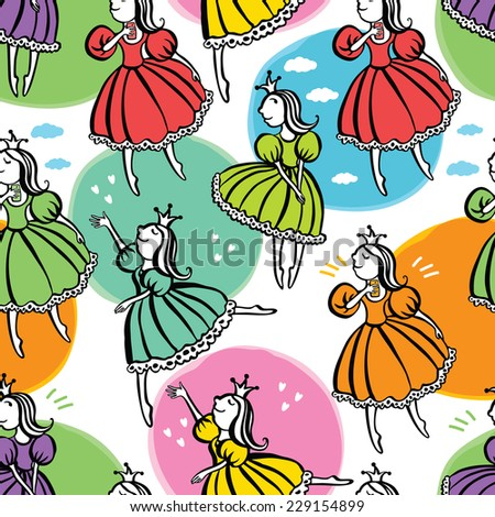 Little princess background - stock vector