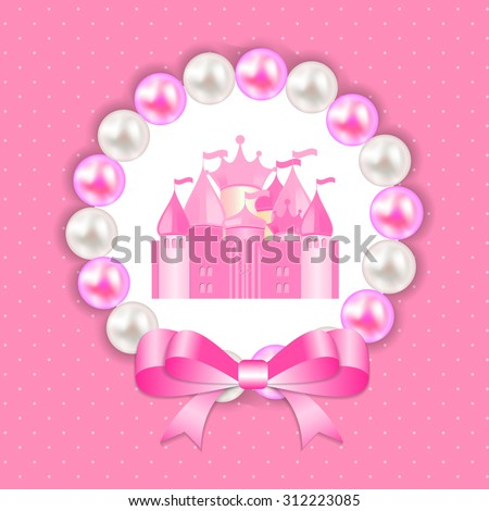 Little Princess Background Vector Illustration EPS10