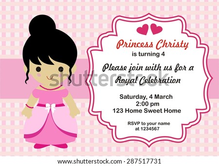 Little princess birthday invitation vector stock vector 2018 little princess birthday invitation vector stopboris Choice Image