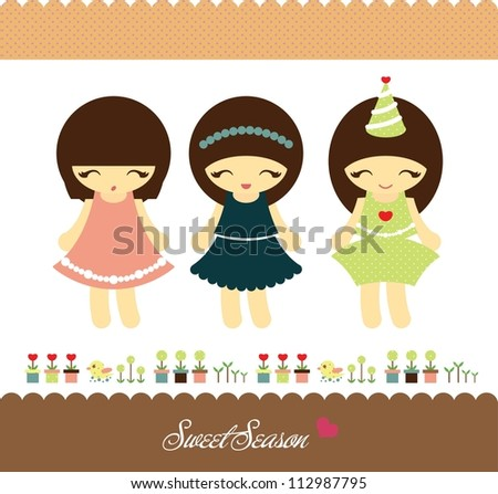 little princess design - stock vector