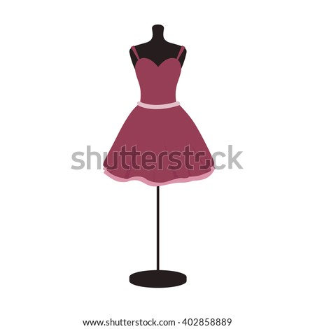Little red dress on mannequin