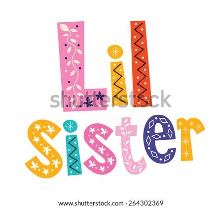Little sister - stock vector