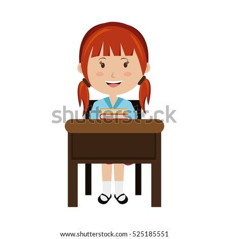Students Working At Desk Clipart