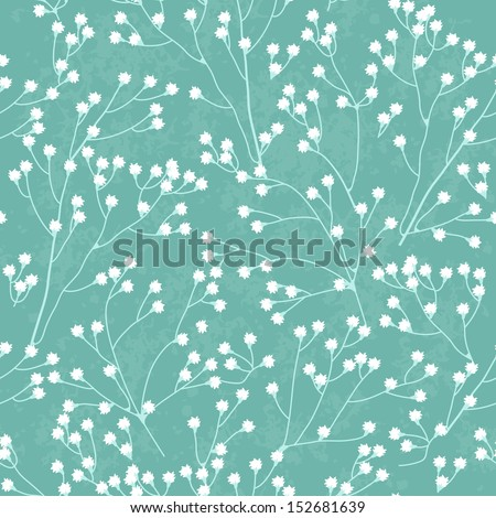 Little white flowers seamless pattern - stock vector
