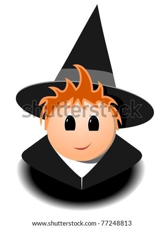 Little Wizards - stock vector