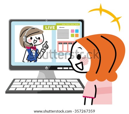Live chat - stock vector
